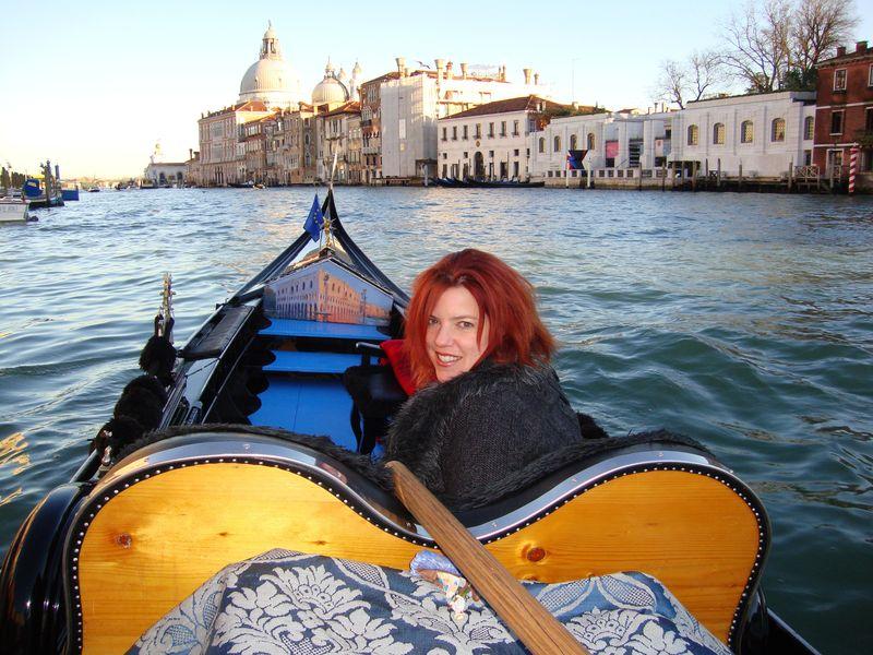 Maya in Sandro's Gondola